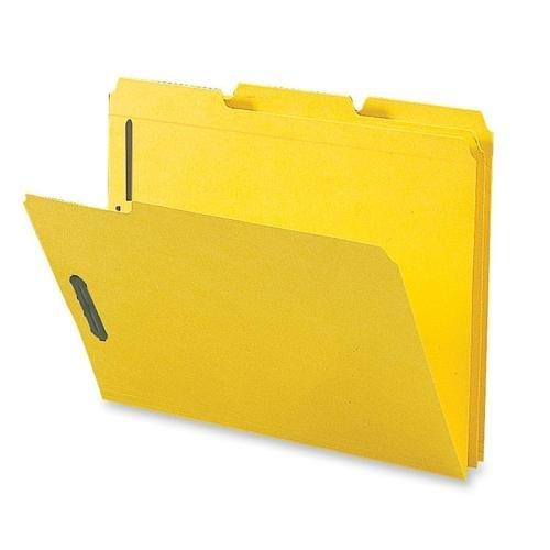 Folders W/2 Ply Tabs - Sparco SP17270 Fastener Folders,w/2-Ply Tab,1/3 AST Tab,50/BX,LTR,Yellow