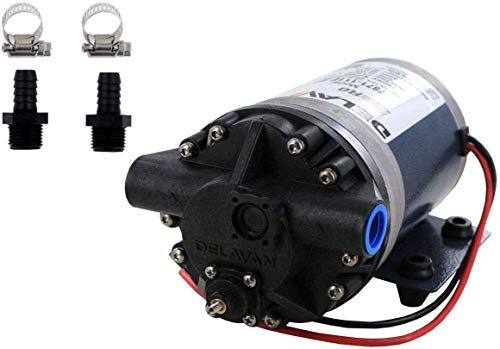 (Delavan 7871-111E PowerFlo 12V Fatboy 3 Bypass Diaphragm Pump with Male 1/2