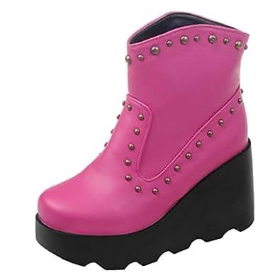 Amazon.com   AIYOUMEI Women's Fashion Wedge Slip-on Round