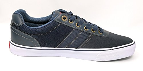 Levis Mens Miles Denim Sneakers Marine