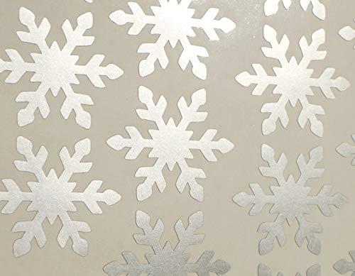 Silver Envelope Seals Winter Christmas Stickers 50 Snowflake stickers removable wallpaper holiday decor Metallic Vinyl Snowflakes