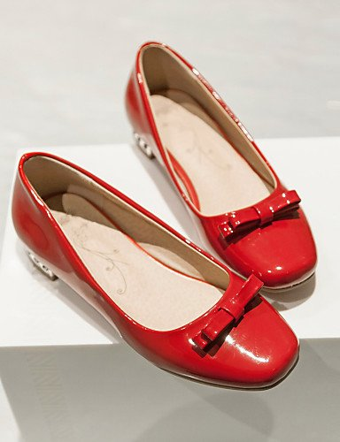 Zapatos Robusto us5 5 Planos 5 cn35 us5 ZQ Semicuero Tacón Rojo red c eu36 Punta eu36 Negro Vestido uk3 de Boda Blanco mujer black Cuadrada red cn34 Casual Mocasines uk3 uk3 eu35 us5 5 5 wI1wqdUT