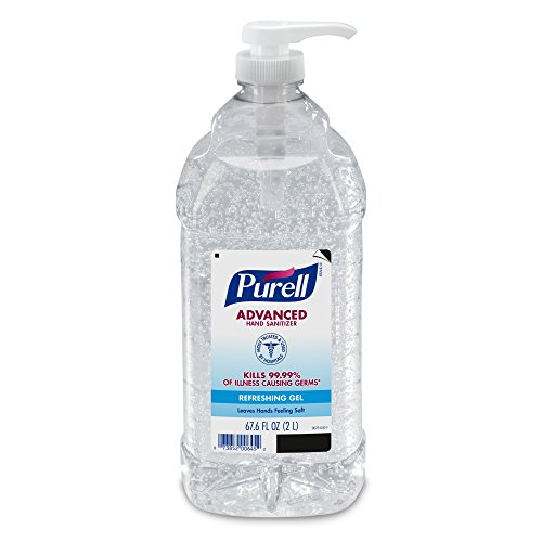 PURELL Advanced Hand Sanitizer Refreshing Gel for Workplaces, Clean Scent, 2 Liter pump bottle (Pack of 1) - 9625-04-EC (Waterless Antimicrobial)