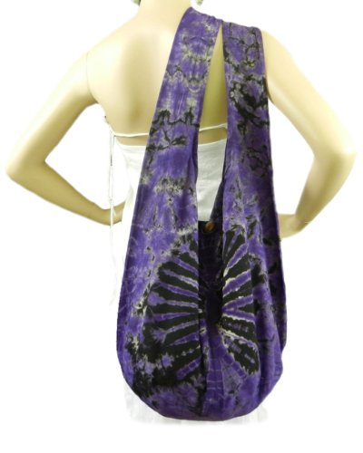 Colorful Firework Cotton Purple Shoulder BTP Sling Hippie Bohemian Hobo Tie Dye Vj4 Bag Crossbody Purse UxP7qgC