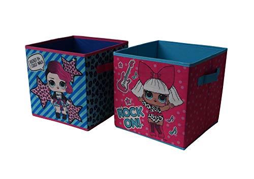 LOL Surprise Collapsible 2 Pack Storage Cubes, Multicolor