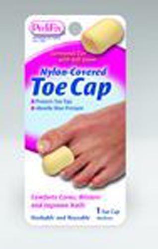 SPECIAL PACK OF 3-Nylon Covered Toe Cap Medium - Foam Pedifix