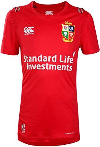 Canterbury British and Irish Lions Rugby Vapodri Superlight Tee - Youth - Tango Red - Age 9-10