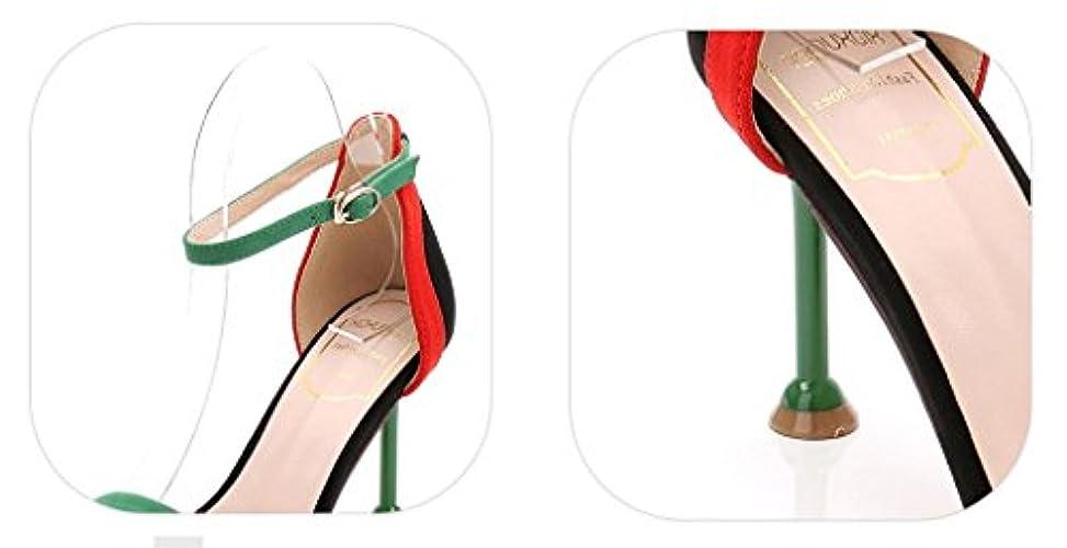 Estate America Sandali Di Donne Fibbia Europa Sexy Periodo Aperta Gllx E Modo Punta Hjhy® Colore Di Scarpe A In Di Spillo Di Tacchi 8IxS55pqw
