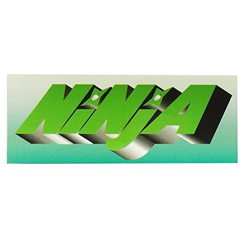 ニンジャ (NINJA) NINJA ステッカー (大12.8cm×5cm) グリーンフェード スケートボード ステッカー デカール