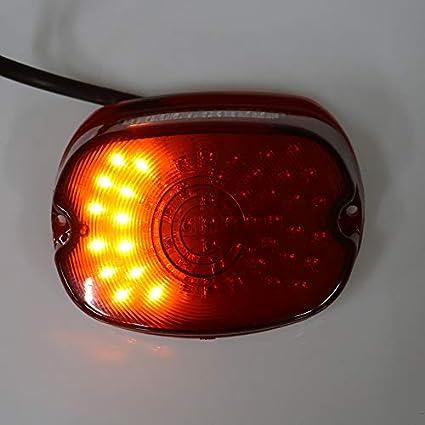 Luz trasera de freno de se/ñal de giro para motocicleta Harley Dyna Sportster 1200 883 Road Glide