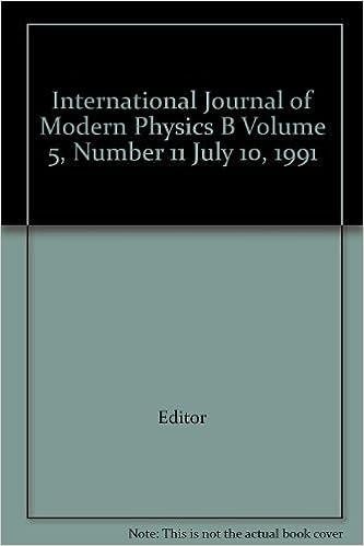 International Journal of Modern Physics B Volume 5, Number