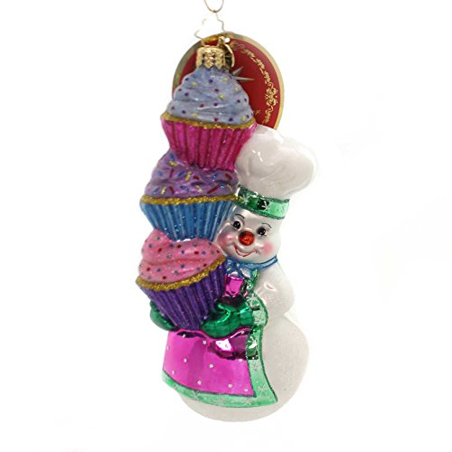 Christopher Radko Hey, Cupcake! Snowmen Christmas Ornament