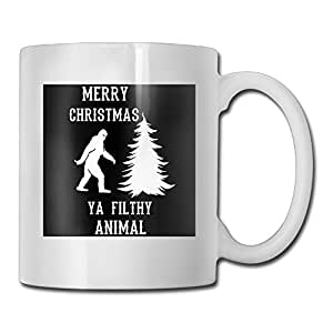 DIMANNU Merry Christmas Animal Coffee Mug Ceramic Drink Tea Cup Design Hot Cold Bottle With Large Handle