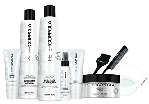 PETER COPPOLA Coppola Keratin Smoothing Treatment Formaldehyde & Aldehyde-Free (Treatment Kit with Aftercare) by Peter Coppola