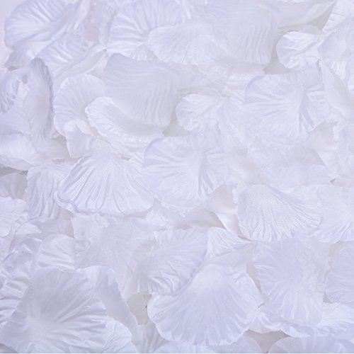 (BESKIT 3000 Pieces Silk Rose Petals Artificial Flower Petals for Wedding Confetti Flower Girl Bridal Shower Hotel Home Party Valentine Day Flower Decoration)