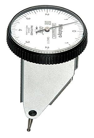 0.0001 Graduation Basic Set White Dial 0-4-0 Reading +//-0.0001 Accuracy 0-0.008 Range Vertical Type 0.375 Stem Dia. Mitutoyo 513-453 Dial Test Indicator 1.575 Dial Dia.