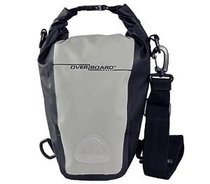 OverBoard Waterproof Roll-Top SLR Camera Bag, Grey/Black, 7-Liter