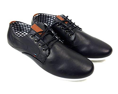 piel piel 2 Para 2017 negro 2017 Up Zapatos Lace Smart formal sintética hombre 1 Casual sintética 10 UqTxAqCvw