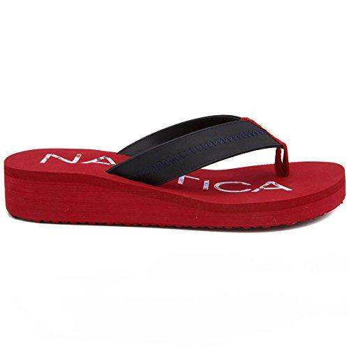 Nautica Women's Tedori Wedge Flip Flop, High Fashion Beach Sandal, Thong Style Slide