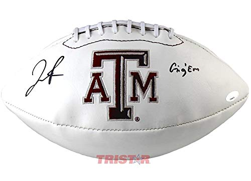 aphed Texas A&M Aggies Logo Football - Autographed College Footballs ()