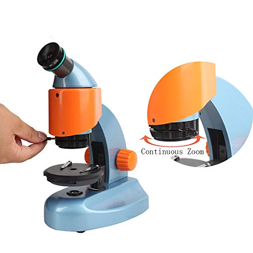 Landove 40X-200X Zoom Compound&Stereo Monocular Microscope for Student and Kids Education, with LED Light and Smartphone Holder by Landove (Image #3)