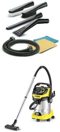 Kärcher 2.862-128.0 Juego de accesorios para la limpieza interior del automóvil + Kärcher MV 6 P Premium - Aspiradora (Tambor, Hogar, Alfombra, Hard floor, Negro, Amarillo, Seca y húmeda, 220 - 240 V): Amazon.es: Coche y moto