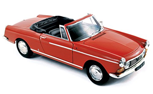 - NEW 1:18 W/B NOREV COLLECTION - RED 1967 PEUGEOT 404 CABRIOLET Diecast Model Car By Norev