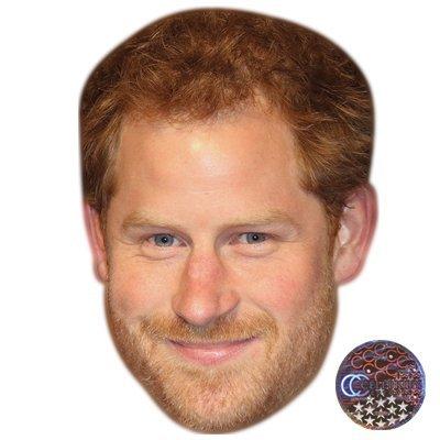Prince Mask - Prince Harry (Beard) Celebrity Mask, Card Face and Fancy Dress Mask