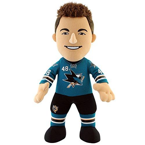 (NHL San Jose Sharks Thomas Hertl Player Plush Doll, 6.5-Inch x 3.5-Inch x 10-Inch, Teal)