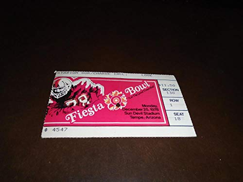 1978 FIESTA BOWL FOOTBALL TICKET STUB ARKANSAS VS UCLA for sale  Delivered anywhere in USA