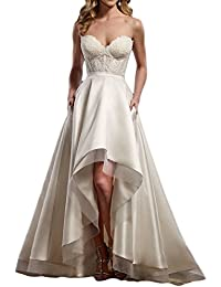 Vintage vestidos de novia High Low Sweetheart Lace Bridal Wedding Gowns M0146