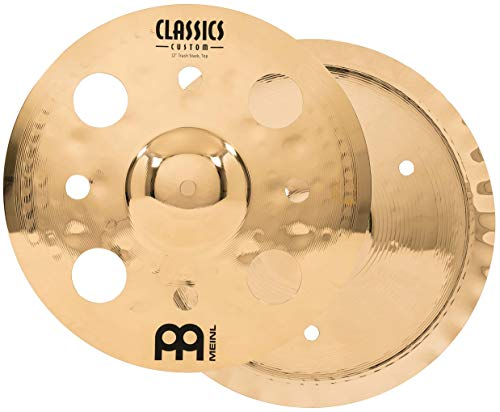 "Meinl  12"" Trash Stack Cymbal Pair with Holes - Classics Custom Brilliant - Made In Germany, 2-YEAR WARRANTY (CC12-STK)"