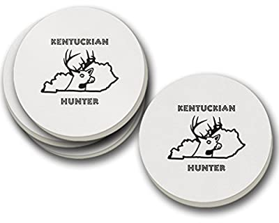 Kentuckian Hunter Kentucky Sandstone Coasters Round Set of 4