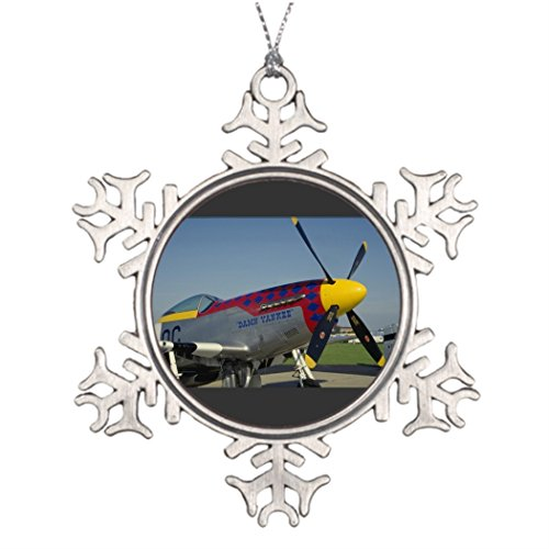 Just Redo P51 Mustang nose cone/propeller showing nose art Personalised Christmas Tree Decoration Make Your Own Christmas Tree Decorations