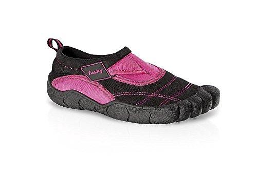 Et Semelle nbsp;7491 De Tpr Aqua Néoprène Velcro Fermeture Chaussures Noir Enfants Lagos Rose Avec Fashy® nbsp;– En noir CHqPvv