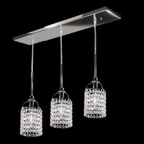 3 Light Drop (Lightinthebox BRAND Modern Tiffany Crystal Chandelier Ceiling Pendant Lights 3- Lights Hanging Drop Lamp for Living Room Bedroom Dinning Room)