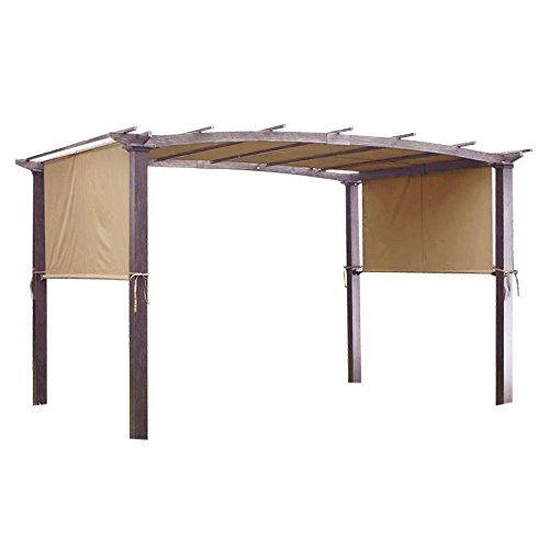 Universal Replacement Canopy - Yescom 17x6.5 Ft Universal Canopy Cover Replacement for Curved Pergola Structure Beige