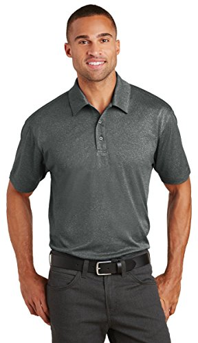 Port Authority Trace Heather Polo Shirt. K576 Charcoal Heather - Matte Grey Polo