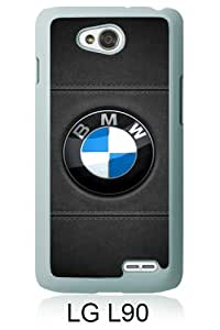 Beautiful And Unique Designed Case For LG L90 With BMW 10 white Phone Case