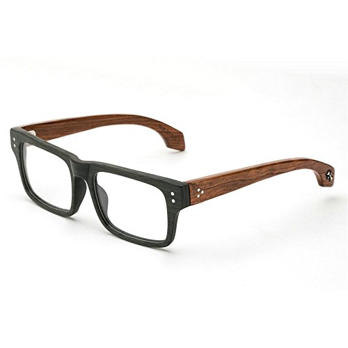 minclstylish woodgrain eyeglasses frame real wooden glasses yhl black wood plain