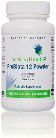 ProBiota 12 Probiotic Powder | Potent Dairy-Free Probiotic Powder | 200 Billion CFU's | No Cold Pack Needed | 60 Grams | Great Taste
