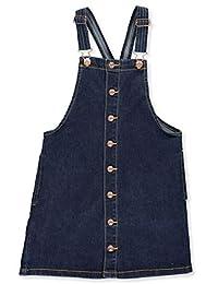 Wallflower Girl Girls' Button-Snap Placket Denim Jumper