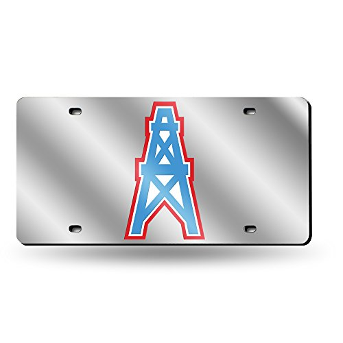 NFL Tennessee Titans Retro Laser Cut License Plate (Titans Silver Tennessee Laser)
