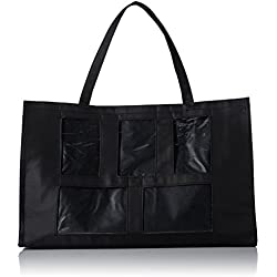 Darice 5 Window Photo Tote, 12-Inch by 19-Inch, Black