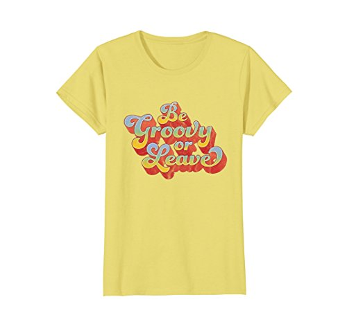 Womens 70s Shirts: Be Groovy Or Leave Retro 60s Shirt Medium Lemon