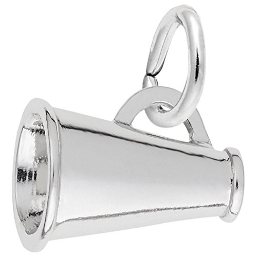 925 Sterling Silver Megaphone - Rembrandt Charms, Megaphone.925 Sterling Silver