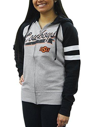 Creative Apparel Women's NCAA Oklahoma State Cowboys Sweat Jacket Hoodie(XXLarge)