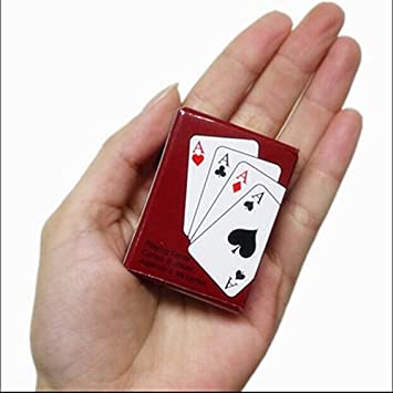 asdomo 1 Set Mini Juego de cartas de Poker, Texas Hold em ...