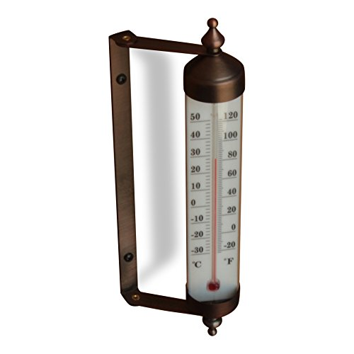 Bjerg Instruments Adjustable Angle 10 Inch Garden Thermometer (Bronze) (Window Thermometer)