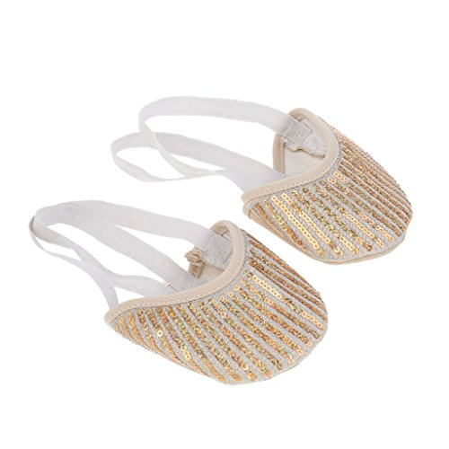 MagiDeal 1 Pair Ballet Stretch Nylon Half Sole Ballet Pair Shoes Rhythmic Gymnastics Slippers B0725SHZGF Shoes 1f4bdf